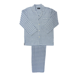 Blue and White Check Flannel Pjs