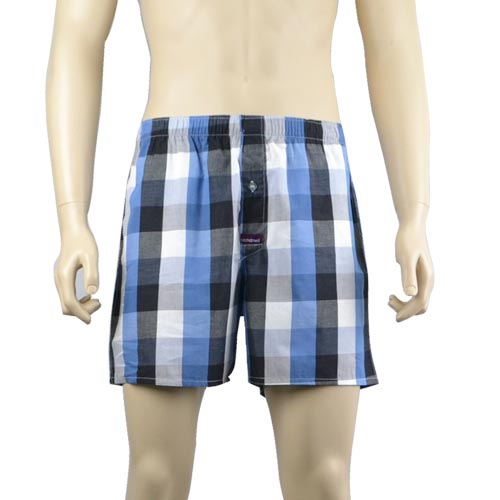 French Blue Check Boxers