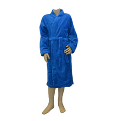 Blue Fleece Winter Robe