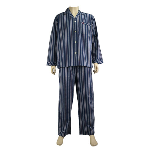 Grey Stripe Cotton Pjs