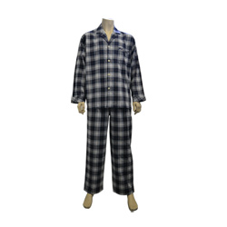 Maroon Check Brushed Cotton Pjs