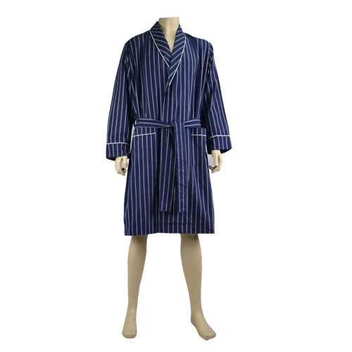 Striped Twill Robe