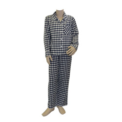 Blue Ink Check Pjs