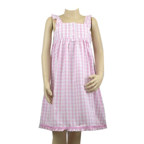 Charlotte Pink Check Nightie