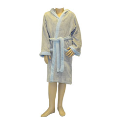 Luna Blue Hooded Robe