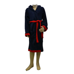 Navy Hooded Robe