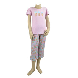 Icecream Print Cotton Pjs