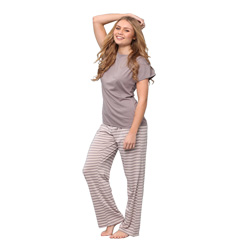 Zinc Tee and Striped Pant Set
