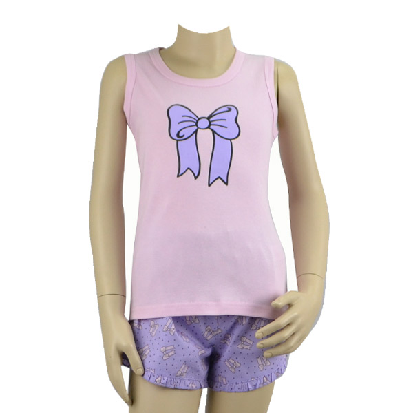 Mauve Bow Tank Set