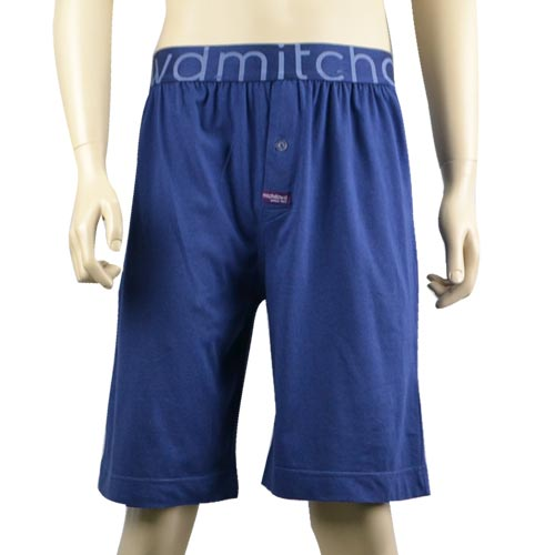 Blue Knit Sleep Shorts