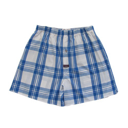 Cobalt Check Boxers
