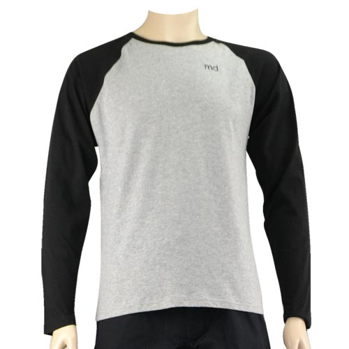Grey Baseball Long Tee