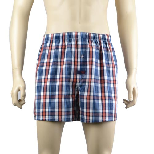Ink Blue Check Boxers