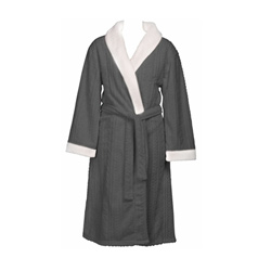 Charcoal Embossed Robe