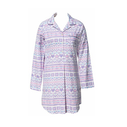 Fairisle Flannel Sleep Shirt