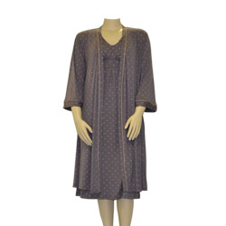Charcoal Nightie and Robe Set