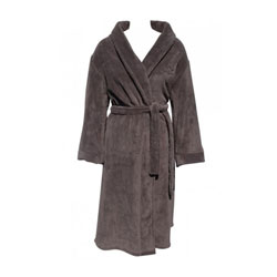 Dark Taupe Fleece Robe