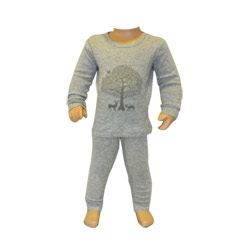 Winter Woods Grey Pjs
