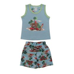 Hawaiian Print Tank Set