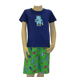 Retro Robot Pj Set
