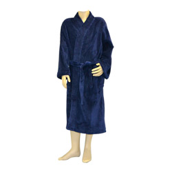 Soft Navy Fleece Robe