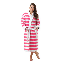 Hot Pink Stripe Robe