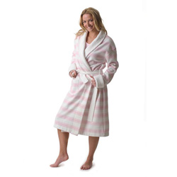 Pink Stripe Robe