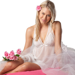 Honeymoon Chemise and Garter Set