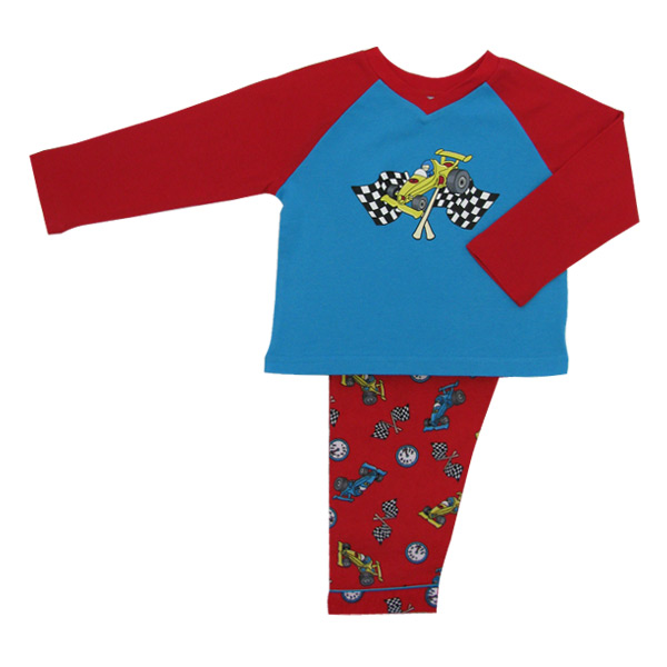Racing Cars Long Tee Pjs