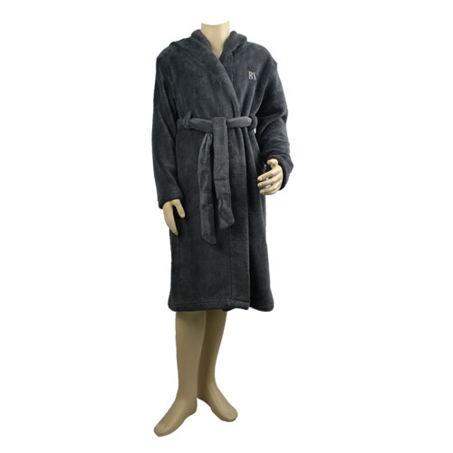 Charcoal Hooded Robe