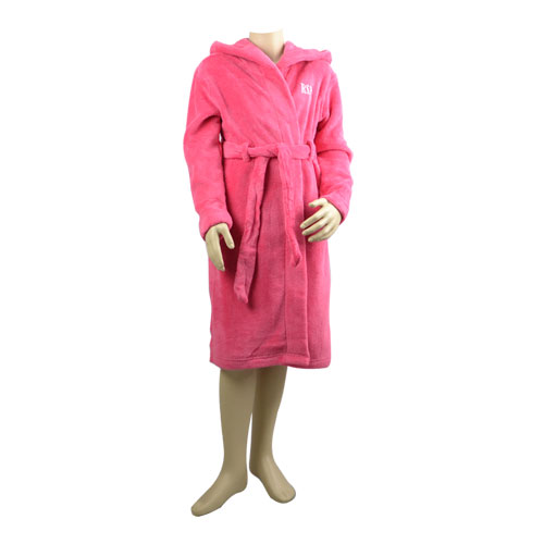Hot Pink Hooded Robe