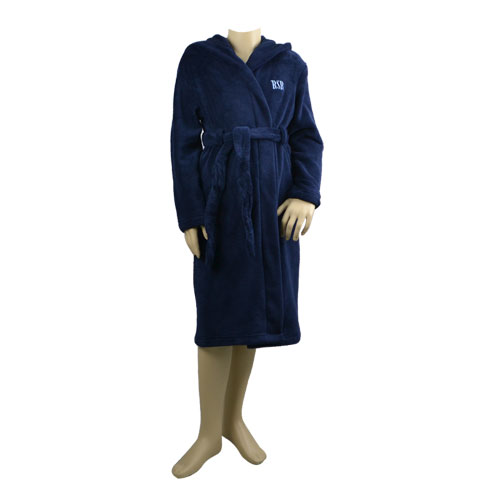 Navy Blue Hooded Robe