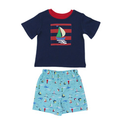Sail Boats Summer Pj Set