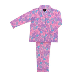 Lace Hearts Flannel Pjs