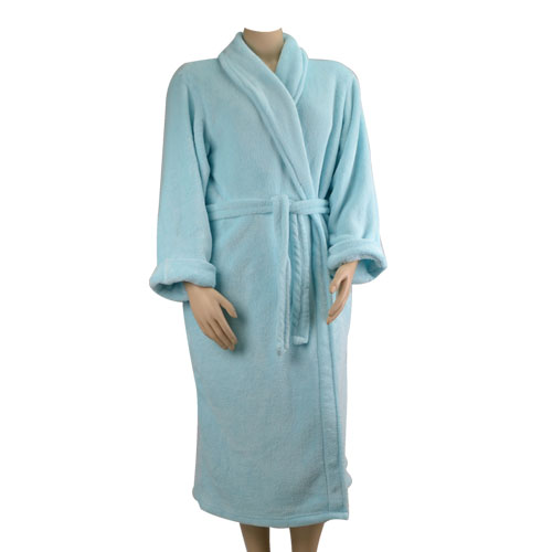 Aqua Fleece Robe